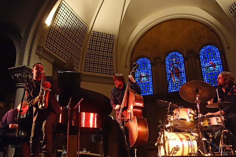 Obara International performing at the 2015 Rochester International Jazz Festival