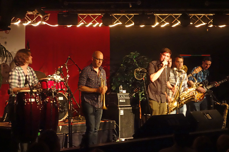 Ikebe Shakedown performing at the 2015 Rochester International Jazz Festival