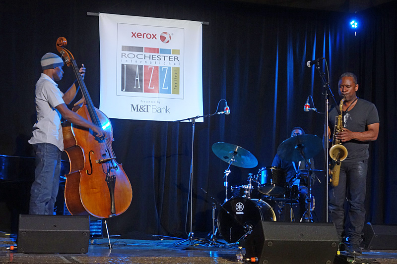 Triumvirate performing at the 2015 Rochester International Jazz Festival