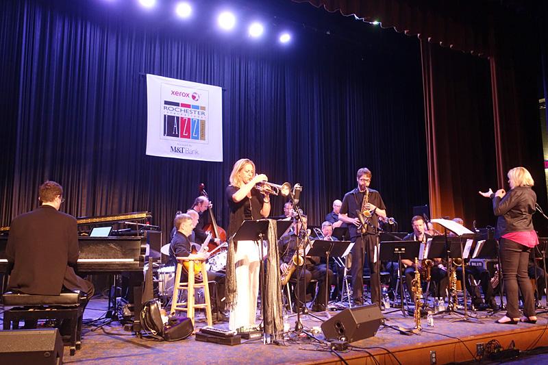 Christine Jensen Jazz Orchestra performing at the 2015 Rochester International Jazz Festival