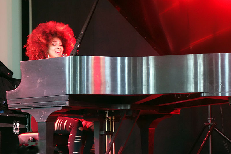 Kandace Springs performing at the 2016 Rochester International Jazz Festival
