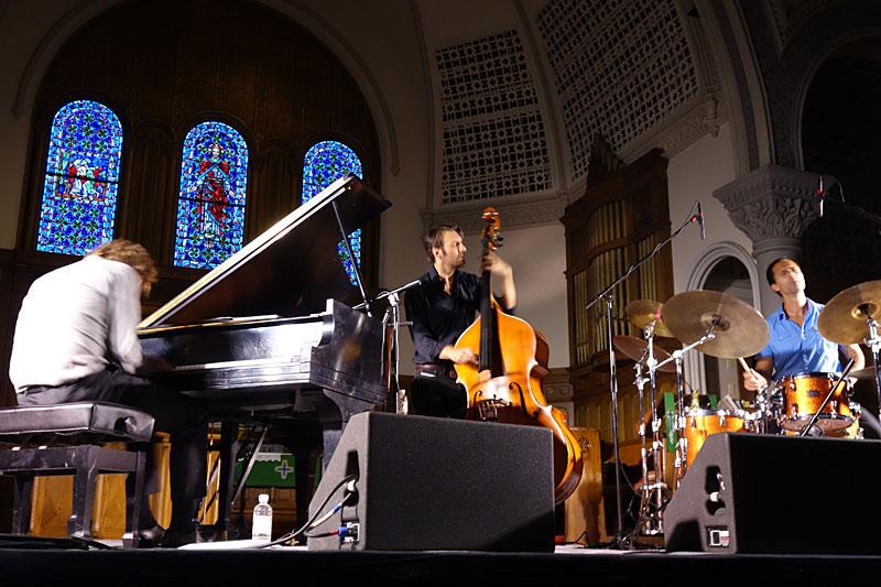 Mats Eilertsen Trio performing at the 2016 Rochester International Jazz Festival