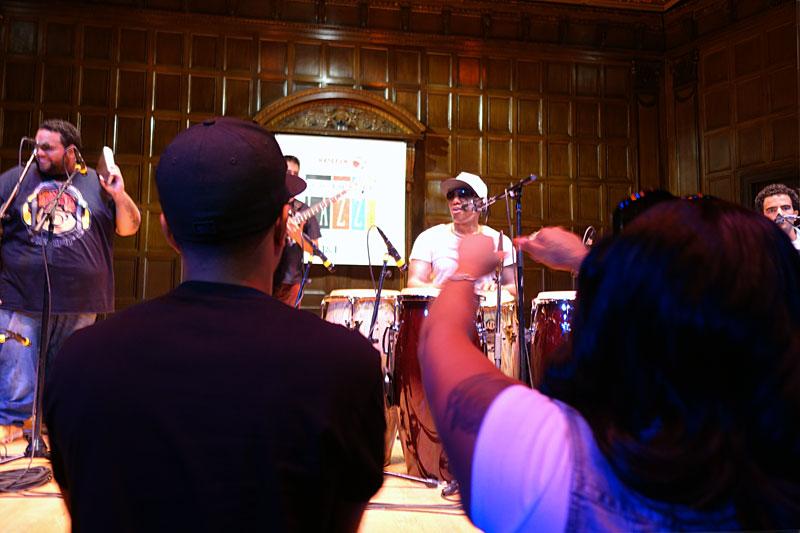 Pedrito Martinez performing at the 2016 Rochester International Jazz Festival