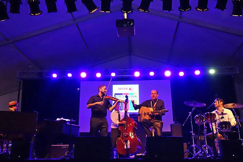 Velvet Caravan performing at the 2016 Rochester International Jazz Festival