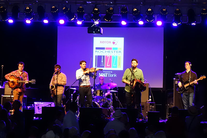 The Revelers performing at the 2016 Rochester International Jazz Festival