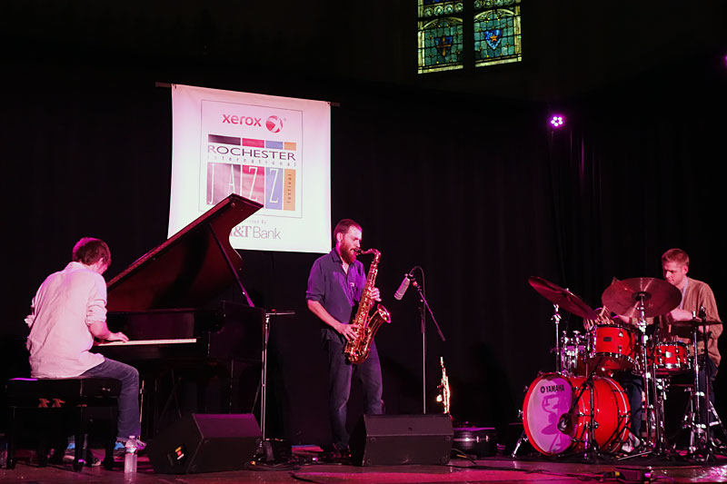 Mammal Hands performing at the 2016 Rochester International Jazz Festival