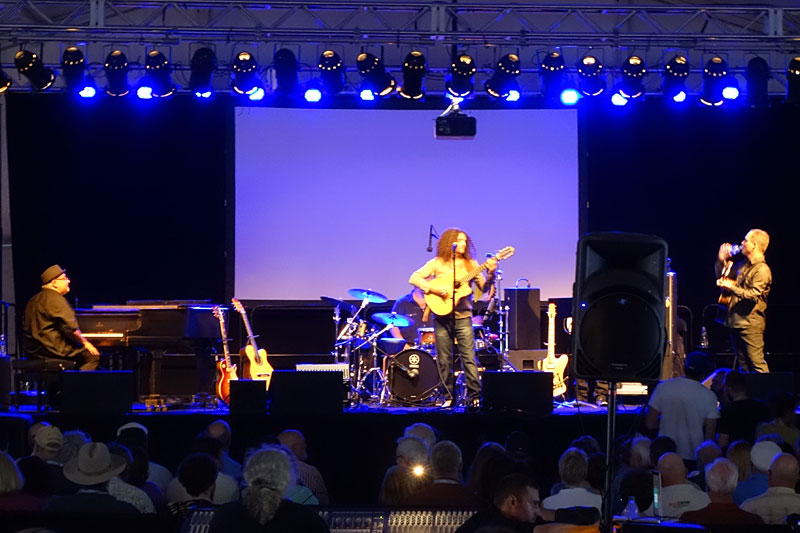 Johannes Linstead Guitar of Fire performing at the 2016 Rochester International Jazz Festival