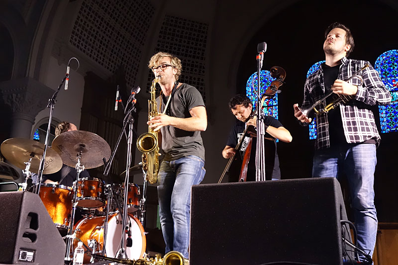Cortex performing at the 2016 Rochester International Jazz Festival