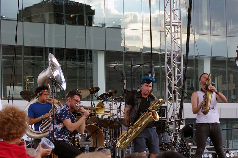 Lucky Chops performing at the 2016 Rochester International Jazz Festival