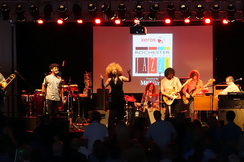 Orgone performing at the 2016 Rochester International Jazz Festival