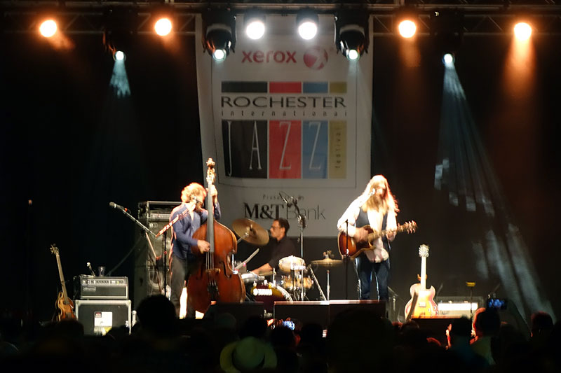 The Woods Brothers performing at the 2016 Rochester International Jazz Festival