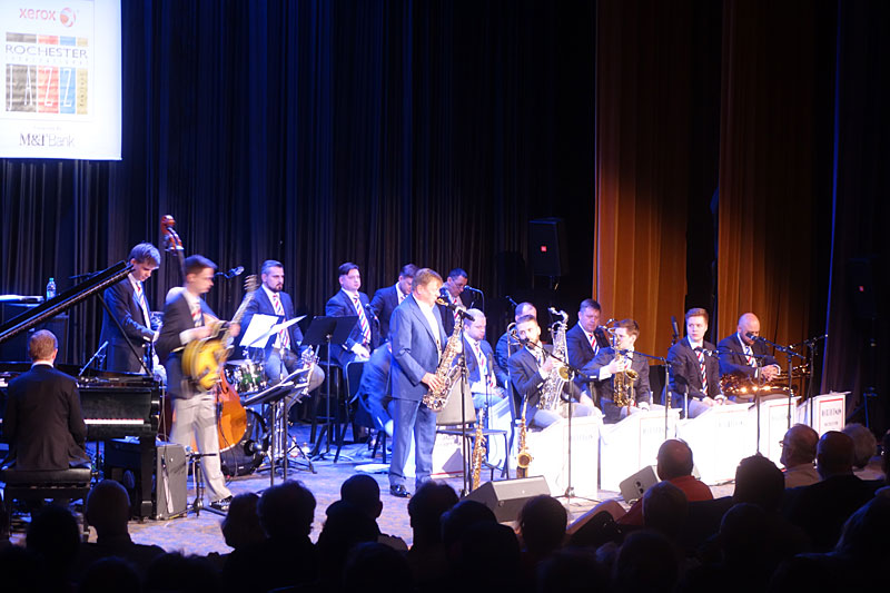 Moscow Jazz Orchestra performing at the 2017 Rochester International Jazz Festival