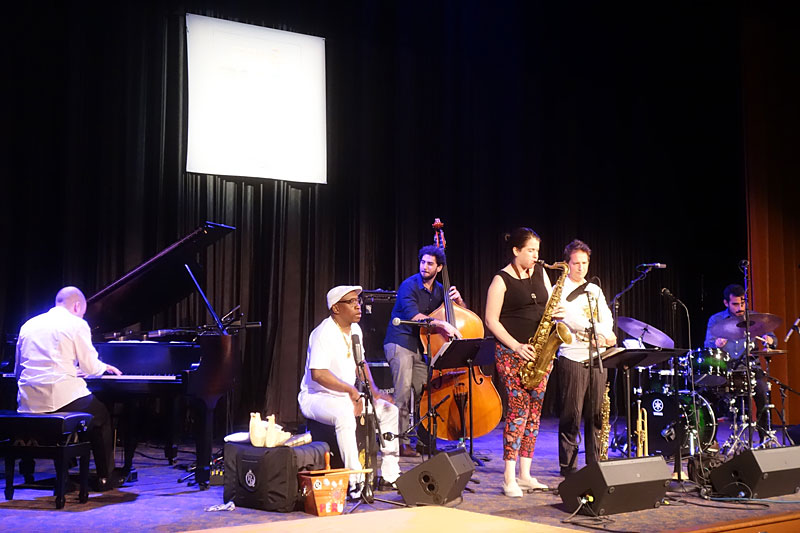 Gabriel Alegria Afro-Peruvian Sextet performing at the 2017 Rochester International Jazz Festival
