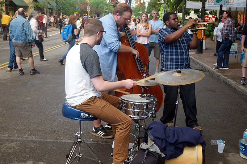Street band performing at the 2017 Rochester International Jazz Festival