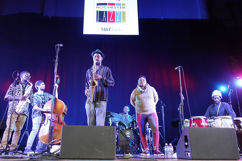 Shabaka & the Ancestors performing at the 2017 Rochester International Jazz Festival