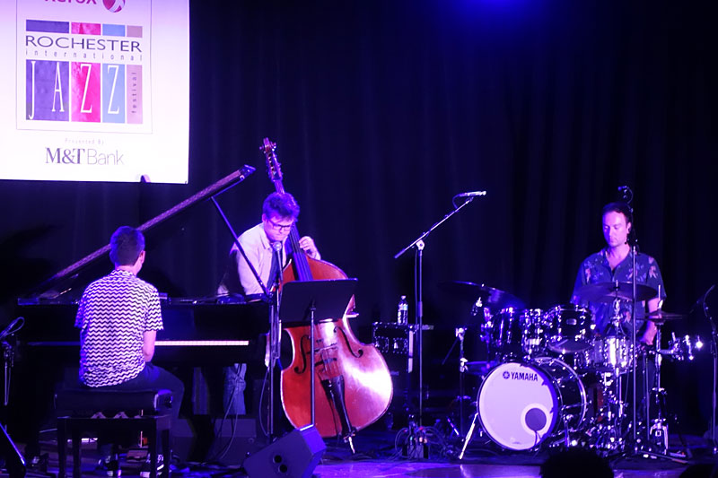 Elliot Galvin Trio performing at the 2017 Rochester International Jazz Festival