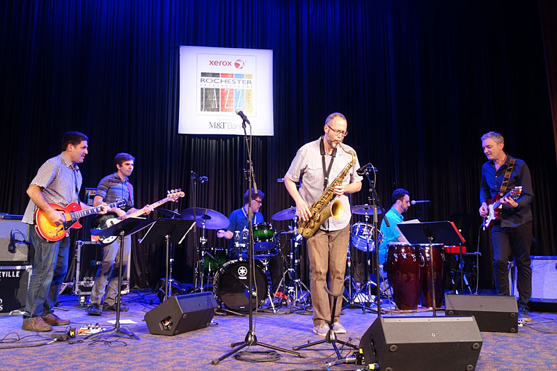 Michael Blakes's Red Hook Soul performing at the 2017 Rochester International Jazz Festival