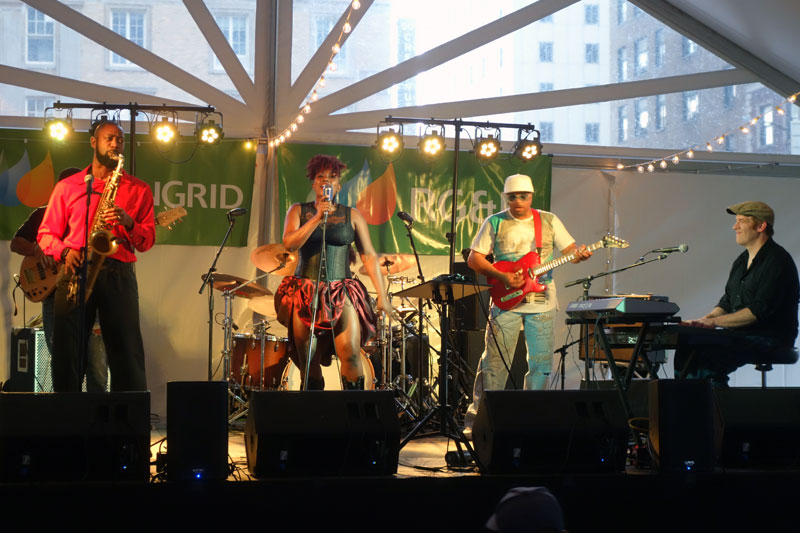 Vanishing Sun Band performing at the 2017 Rochester International Jazz Festival
