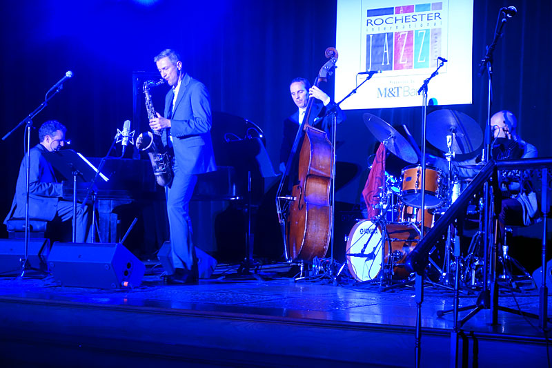 Dave O'Higgens Atlantic Bridge Quartet performing at the 2017 Rochester International Jazz Festival