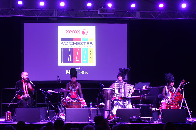 Dakha Brakha performing at the 2017 Rochester International Jazz Festival