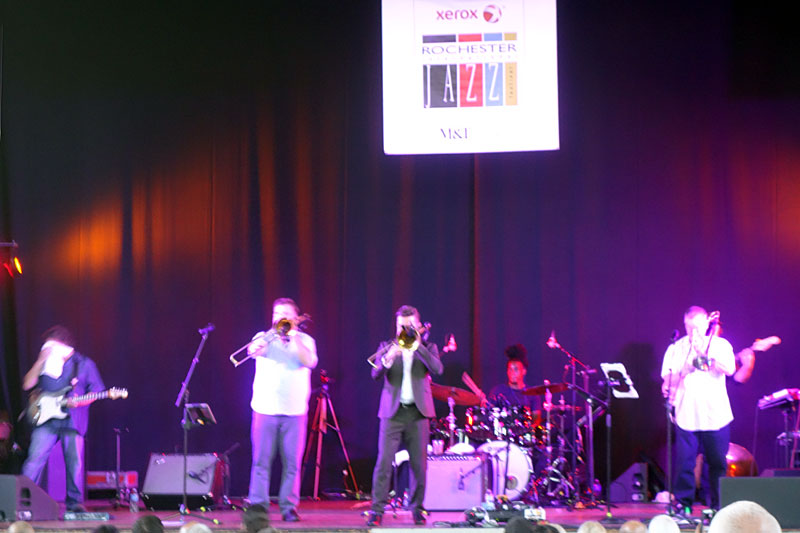 Bonarama performing at the 2017 Rochester International Jazz Festival