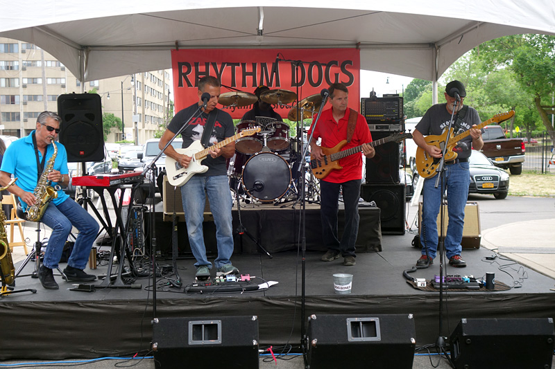 Rhythm Dogs performing at the 2018 Rochester International Jazz Festival