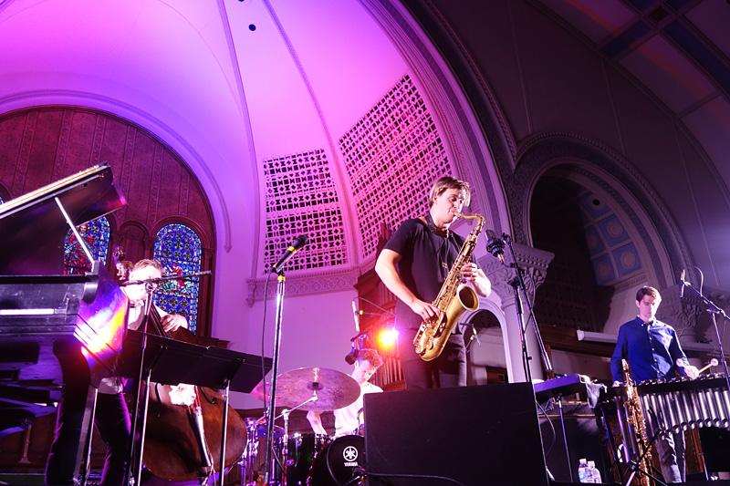 Marius Neset performing at the 2018 Rochester International Jazz Festival