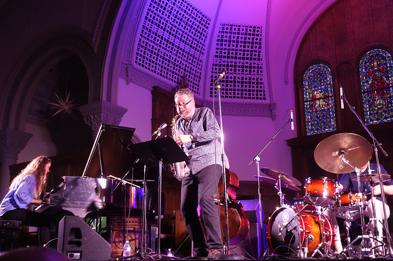 Sigurdur Flosason performing at the 2018 Rochester International Jazz Festival