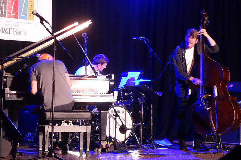 Django Bates Beloved Trio performing at the 2018 Rochester International Jazz Festival