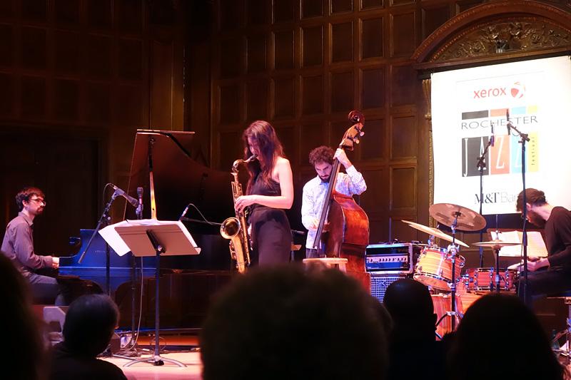 Melissa Aldana performing at the 2018 Rochester International Jazz Festival