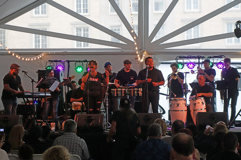 Sonidos Unidos performing at the 2018 Rochester International Jazz Festival