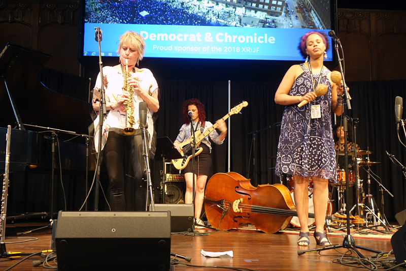 Jane Bunnett performing at the 2018 Rochester International Jazz Festival