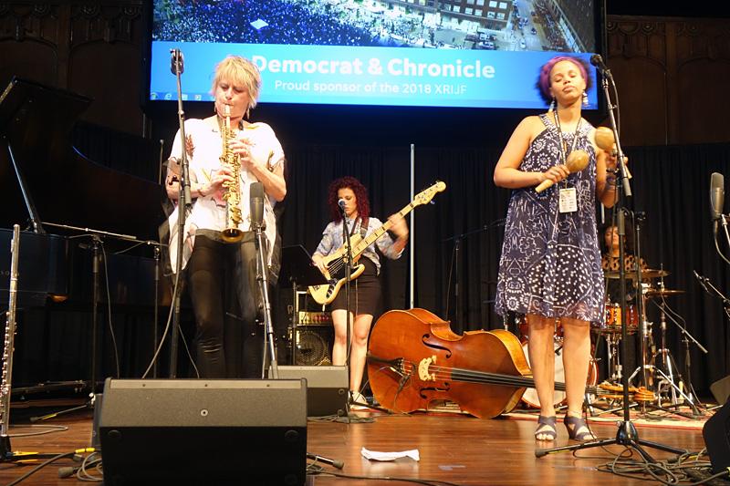 Jane Bunnett performing at the 2018 Rochester International Jazz Festival