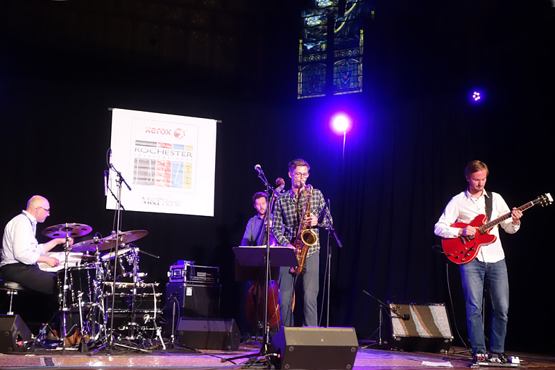 Partikel performing at the 2018 Rochester International Jazz Festival