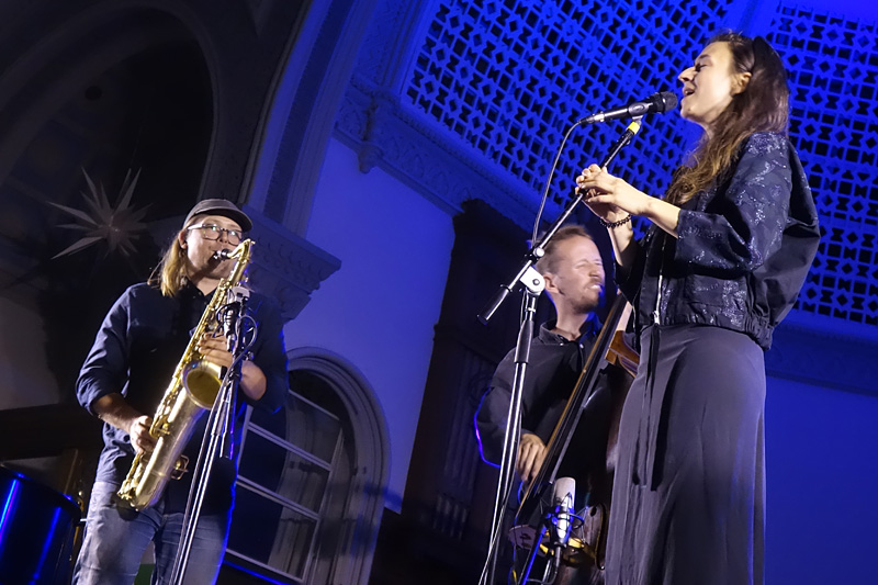 Speak Low performing at the 2018 Rochester International Jazz Festival