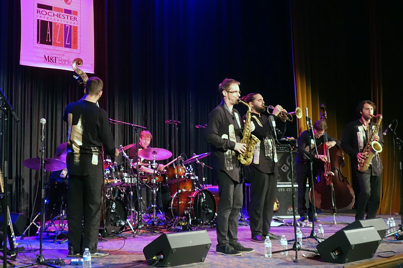 Shake Stew performing at the 2018 Rochester International Jazz Festival