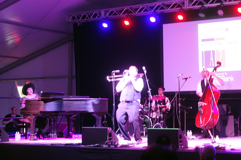 Davina and the Vagabonds performing at the 2018 Rochester International Jazz Festival