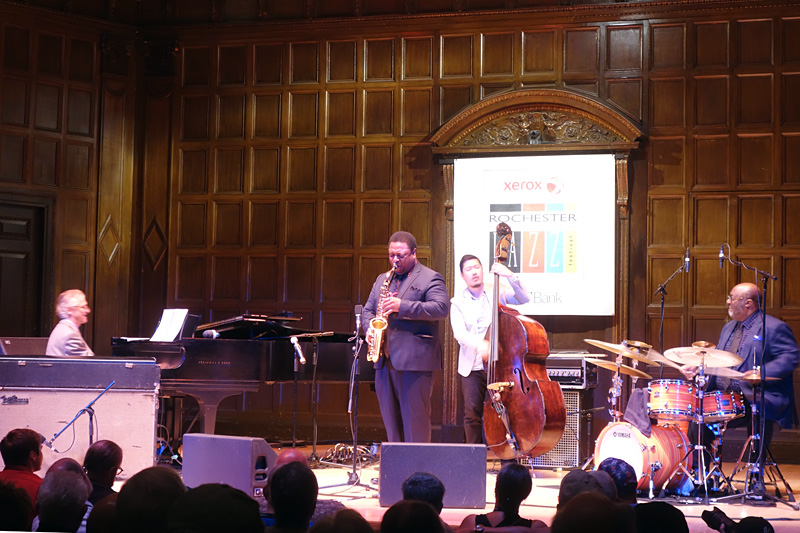 Vincent Herring Quartet performing at the 2018 Rochester International Jazz Festival