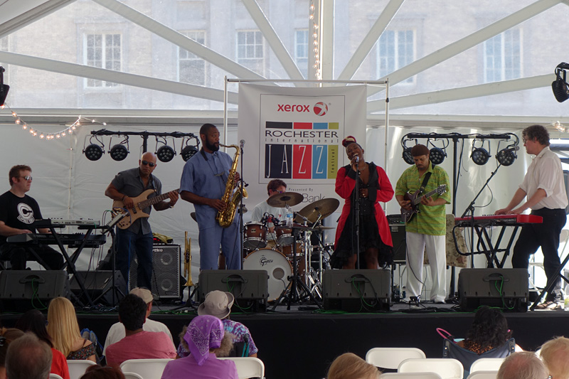 Quinn Lawrence Band performing at the 2018 Rochester International Jazz Festival