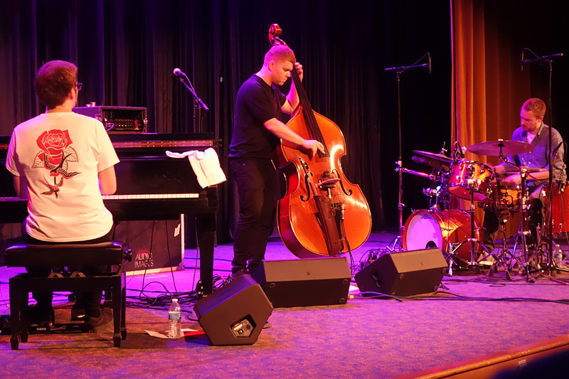 GoGo Penguin performing at the 2018 Rochester International Jazz Festival