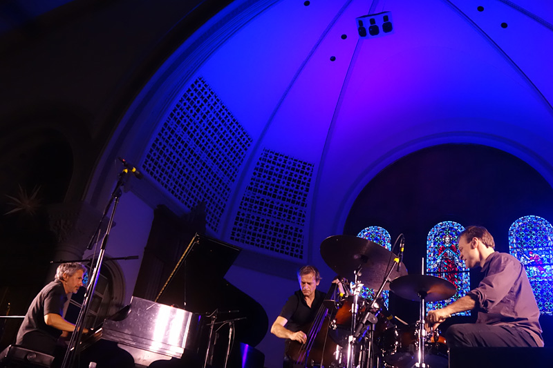 Pilc Moutin Hoenig performing at the 2018 Rochester International Jazz Festival