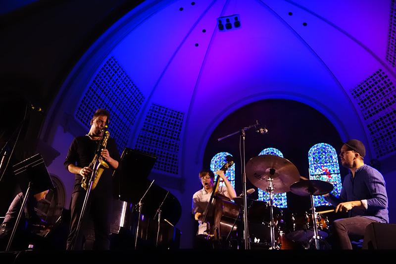 Maciej Obara Quartet performing at the 2018 Rochester International Jazz Festival