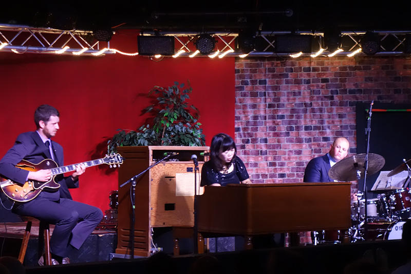Akiko Tsuruga Trio performing at the 2018 Rochester International Jazz Festival