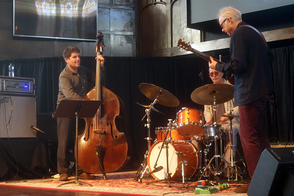 Bill Frisell Trio performing at the 2019 Rochester International Jazz Festival