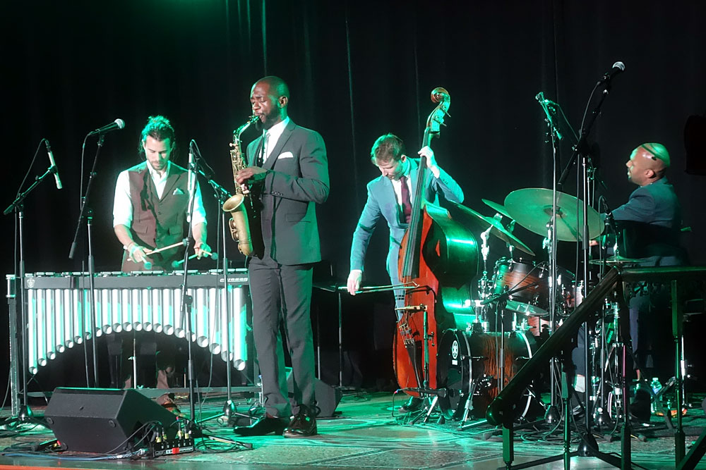 Empirical performing at the 2019 Rochester International Jazz Festival