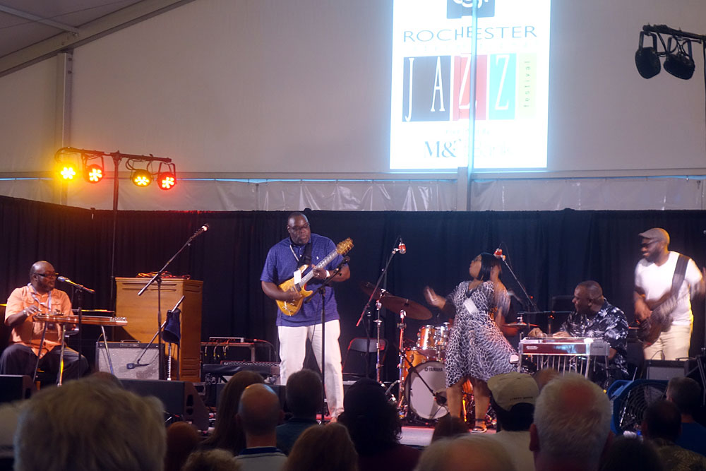Campbell Brothers performing at the 2019 Rochester International Jazz Festival