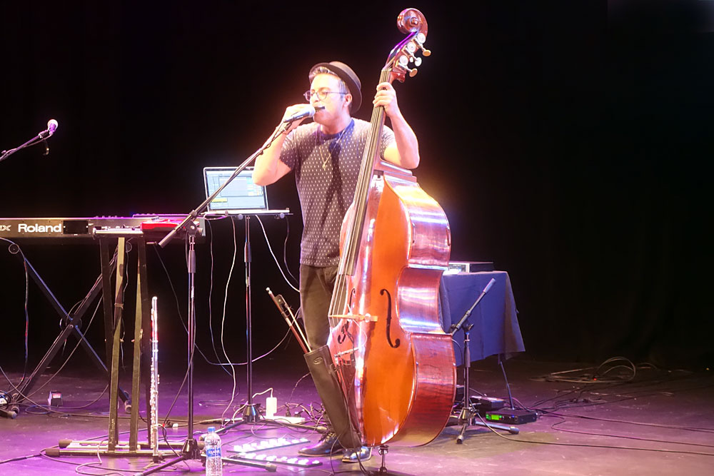 Adam Ben Ezra performing at the 2019 Rochester International Jazz Festival