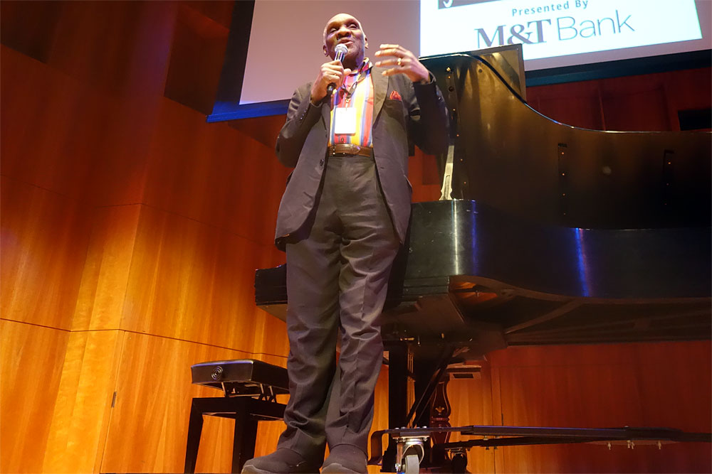 Harold Mabern performing at the 2019 Rochester International Jazz Festival