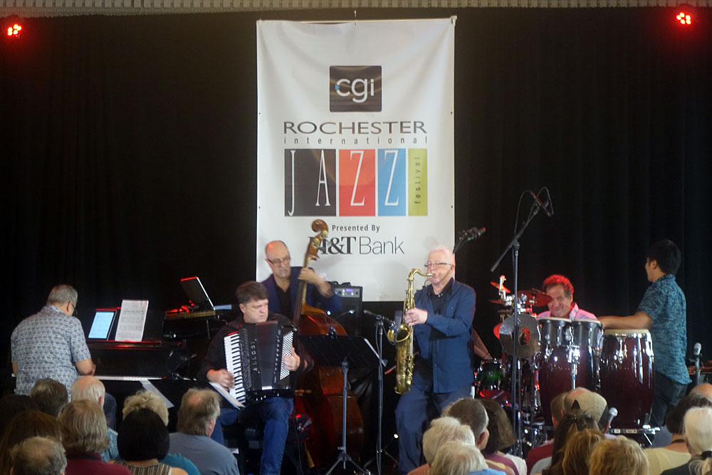 Under One Sun performing at the 2019 Rochester International Jazz Festival