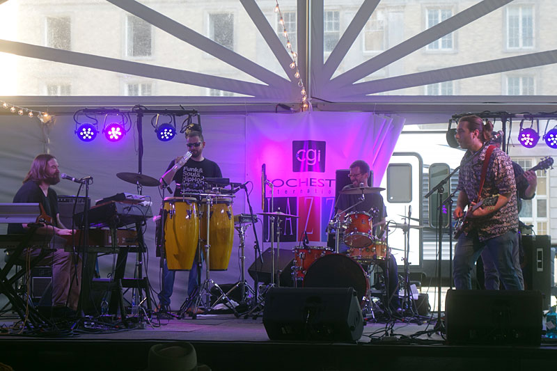 Funknut performing at the 2019 Rochester International Jazz Festival